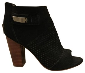DV8 by Dolce Vita Open Toe Chunky Heel Leather Black Boots