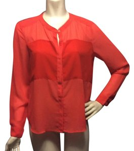 W118 by Walter Baker Button Down Shirt Red and coral