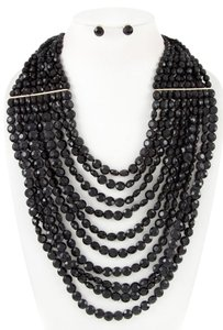 Nordstrom Faceted Rounded Bib Necklace