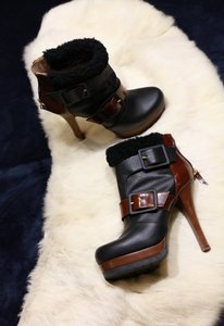 Fendi Winterbootie Designer Platform Black and brown Boots