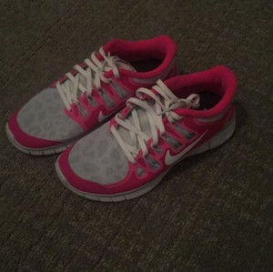 Nike Pink/grey/white/leopard Athletic
