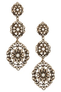 Topshop Triple Link Drop Earrings