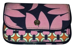 Vera Bradley Navy And Pink Clutch