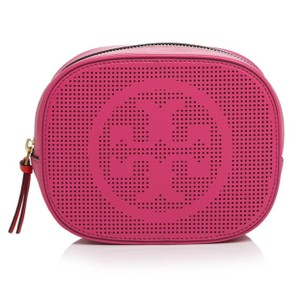 Tory Burch Perforated Leather Cosmetic Case