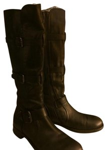 Alberto Fermani Camelot Leather Black Boots