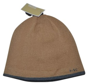 Michael Kors NWT MICHAEL KORS CAMEL GREY HAT BEANIE ONE SIZE REVERSIBLE