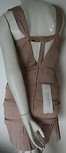 Hervé Leger Herve Beige Cocktail Dress