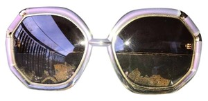 Ted Lapidus VINTAGE TED LAPIDUS PARIS FRANCE CLEAR OVERSIZED SUNGLASSES