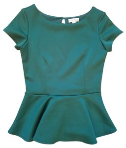 Bisou Bisou #peplum #emerald Top Green