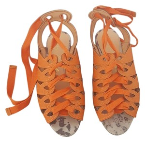 Luiza Barcelos Orange Sandals