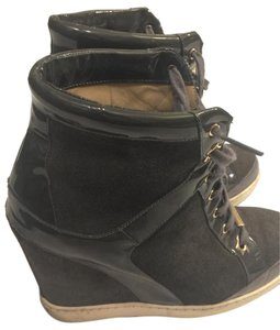 Jimmy Choo Charcoal Gray Wedges