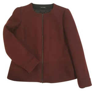 Narciso Rodriguez Peplum Suiting Jacket Tailored BURGUNDY Blazer