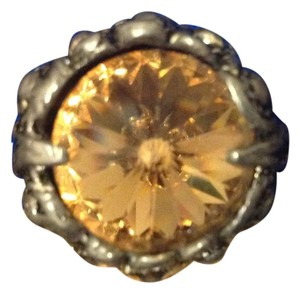 Vintage Cocktail Ring Citron stone