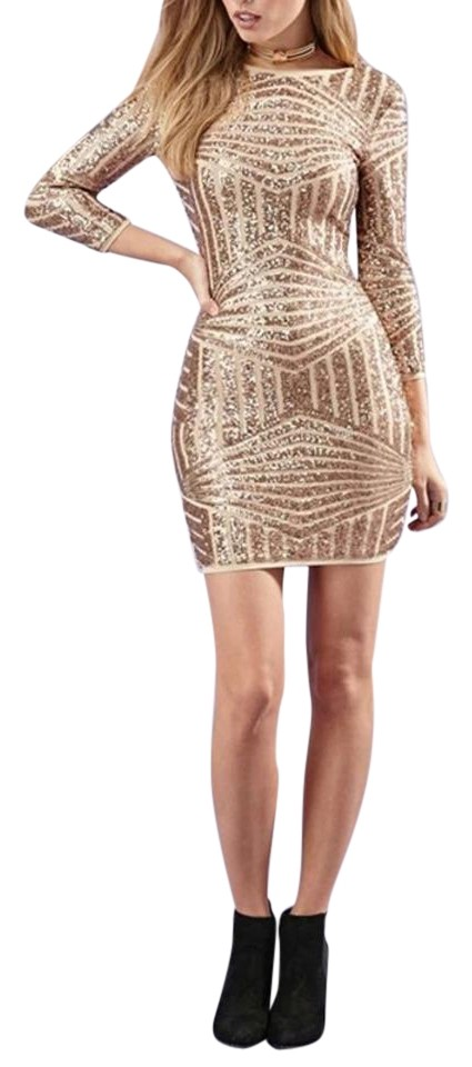 Haoduoyi Short Dress Rose Gold Sequin Party On Tradesy