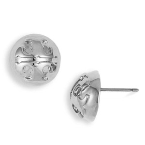 Tory Burch Domed Logo Stud Earrings