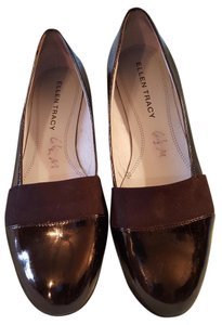 Ellen Tracy Good Condition Black Patent Flats