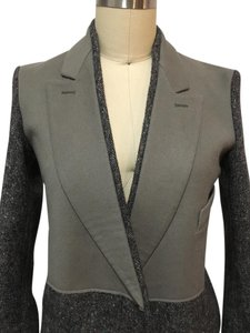 Saint Laurent Vintage Wool Grey and light army green Blazer