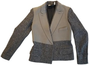 Saint Laurent Vintage Wool Gray and Taupe Blazer