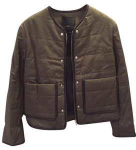 Alexander Wang Leather-piped Quilted Military Jacket