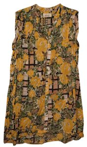 Anthropologie short dress Yellow/Black on Tradesy