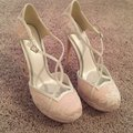 Truly Zac Posen White and Pink By Lace Platforms Size US 7.5 Regular (M, B) Image 0