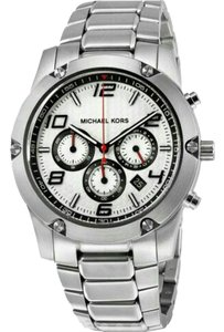 Michael Kors Collection MICHAEL KORS MK8472 Caine Silver Dial Chronograph SS Men's Watch.