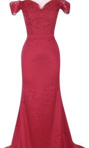 burgandy red formal dress Dress