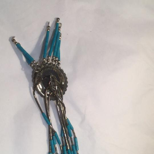 Native american sterling silver and turquoise necklace Image 2