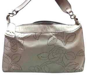 White chanel Patent Perforated Camellia Hobo Shoulder Bag