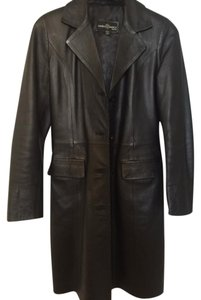 Laura Bianca Milano Leather Genuine Leather Italian Leather Trench Coat