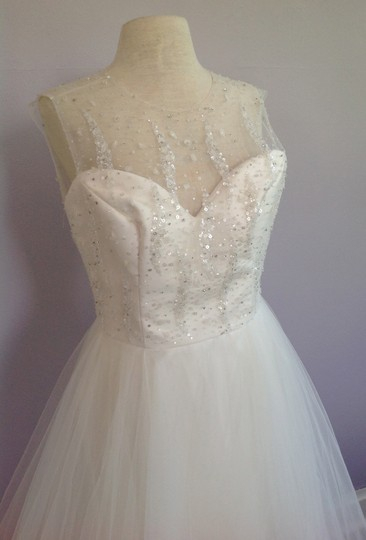 Tara Keely Ivory Mikado / Organza / Tulle Tk2302 Formal Wedding Dress Size 10 (M) Image 3