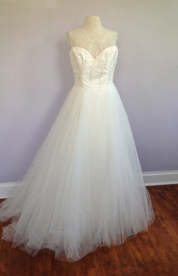 Tara Keely Ivory Mikado / Organza / Tulle Tk2302 Formal Wedding Dress Size 10 (M) Image 4