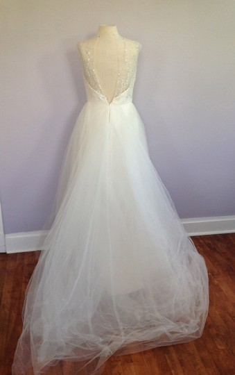 Tara Keely Ivory Mikado / Organza / Tulle Tk2302 Formal Wedding Dress Size 10 (M) Image 7