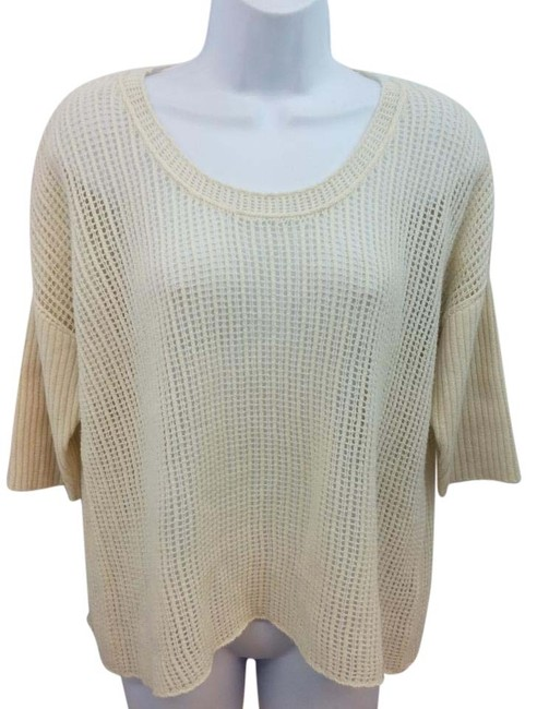 Preload https://img-static.tradesy.com/item/20234097/james-perse-beige-open-knit-cashmere-blouse-size-2-xs-0-1-650-650.jpg