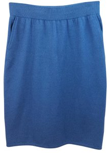 St. John Blue Knit Skirt