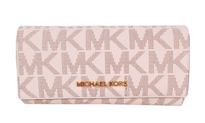 Michael Kors Travel Carryall Wallet Clutch Fits Checkbook Phone NWT Vanilla