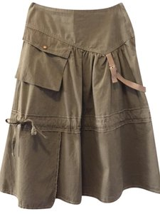 Other Funky Cargo Cute Unique Trendy Skirt Taupe