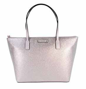 Kate Spade Haven Holiday Glitter Tote in Silver