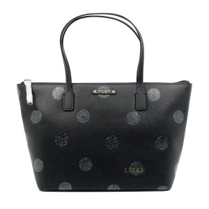 Kate Spade Black Small Tote in black/glitter