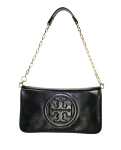 Tory Burch Bombe Reva Black Clutch