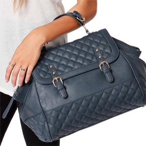 Other Quilted Extra Large Big Quilted Satchel in blue
