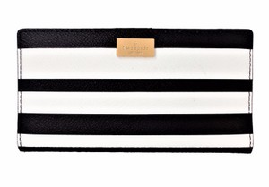 Kate Spade Arbour Hill Bonbon St Stacy Slim Bifold Wallet NWT Black White