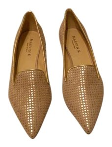 Aquatalia by Marvin K. Cut Out Design Elegant Italy Gold Flats