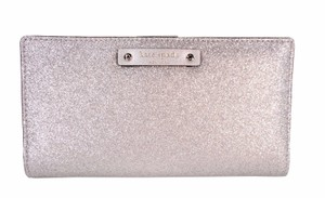 Kate Spade Haven Holiday Sparkle Stacy CardWallet Clutch NWT Silver Glitter