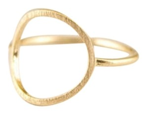 New size 6.5, delicate minimal gold karma infinity circle ring