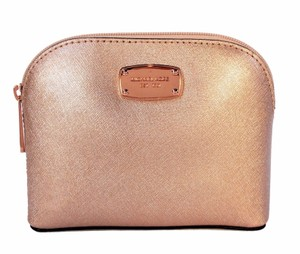 Michael Kors Cindy Saffiano Leather Travel Rose Gold Travel Bag