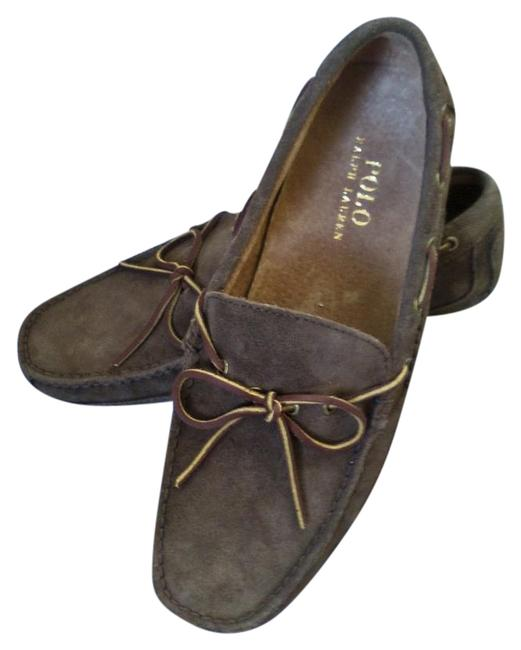 Item - Brown Men's Suede Driving By New Holiday Flats Size US 8.5 Regular (M, B)