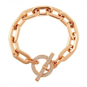 Michael Kors NWT Pave Gold Rose tone Toggle Bracelet mkj4865791
