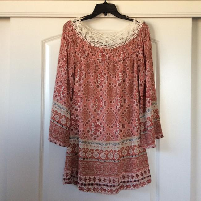 Other short dress Pink/peach hues w/cream collar on Tradesy Image 1