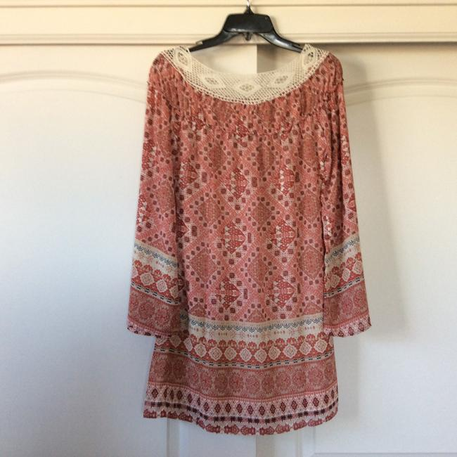 Other short dress Pink/peach hues w/cream collar on Tradesy Image 2